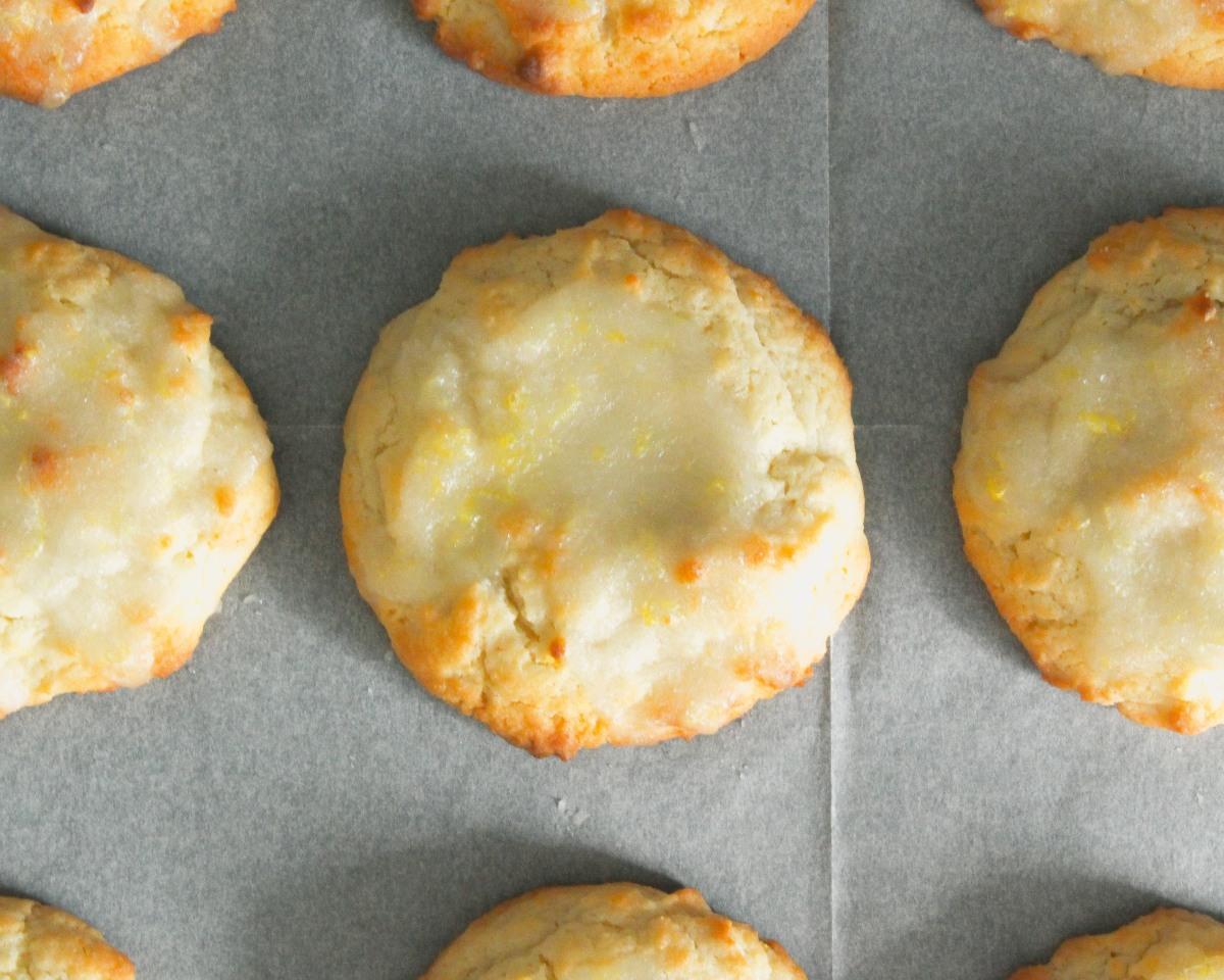 עוגיות לימון עם זיגוג לימוני